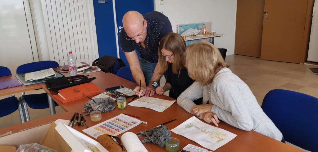 Atelier dessin et aquarelle du m ois d'octobre aux Sables d'Olonne animé par Jean-Pascal Duboil
