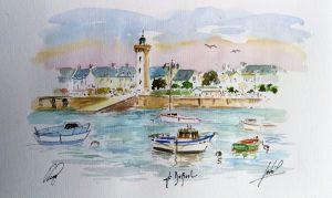 Une aquarelle composée par Pierrig, Jean-Pascal et Jean-Claude Duboil