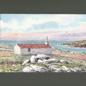 Aquarelle originale - Chapelle de l'Île d'Yeu - Jean-Pascal Duboil