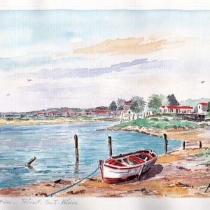Port de la Guittière à Talmont-Saint-Hilaire - Aquarelle de JP Duboil