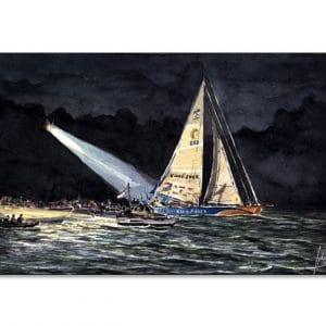 Arrivée Ellen Macarthur Vendée Globe - Aquarelle de Jean-Pascal Duboil