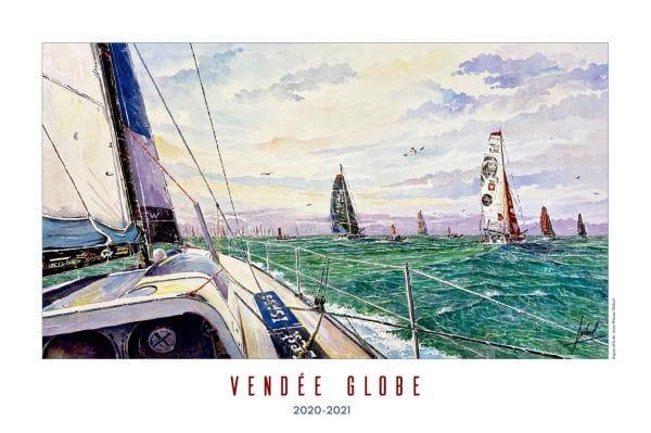 Poster Vendée Globe 2020-2021 - Aquarelle de Jean-Pascal Duboil