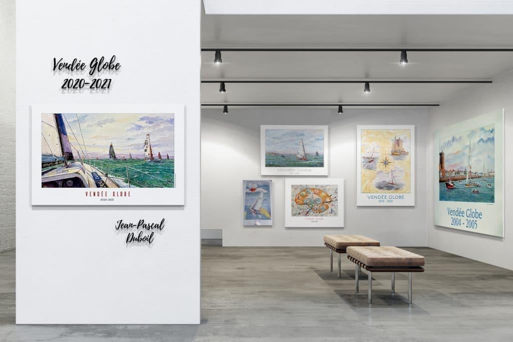 Historique des affiches du Vendée Globe par Jean-Pascal Duboil - Aquarelliste