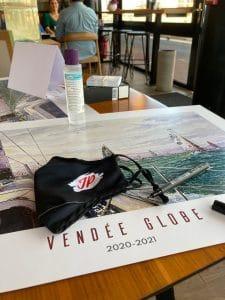 Dédicace de l'affiche du Vendée Globe par Jean-Pascal Duboil